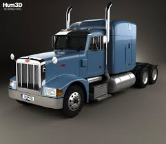 Peterbilt 377 Sleeper Cab Tractor Truck 1999 3D Model - Hum3D