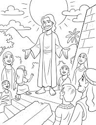 This Is A Fun Coloring Page Of Jesus Visiting The Nephites