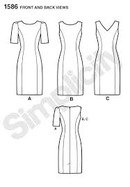 1586 Simplicity Pattern Misses and Plus Size Amazing Fit Dress