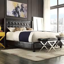 Joss And Main Wingback Headboard by Furniture Of America Vanna Rhinestone Tufted Platform Bed Hayneedle