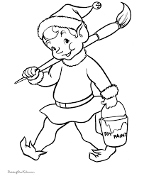 BlueBonkers Santa S Elves Coloring Pages 7