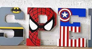 Superhero Bedroom Decor Uk by Wooden Superhero Letters Connor Pinterest Wooden Wall