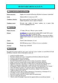 fiche metier secretaire medicale fiche de poste secretaire medicale en hemodialyse pdf notice