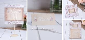 Rustic Wedding Stationery With A Pink Shabby Chic Floral Touch
