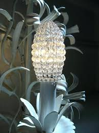 chandelier bulb cover small faceted glass beaded light bulb cover