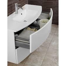 scanbad badmöbel set 90 cm mit spiegelschrank modern weiß
