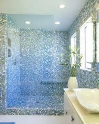 mosaic tile bathroom wall shower fashionable light blue gl with