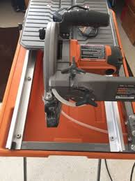 ridgid r4030 7 wet tile saw with laser guide and stand 362