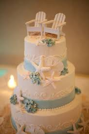 Beach Wedding Cake Nautical With The Chairs Topper Could Be An Anniversary