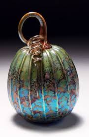 Blown Glass Pumpkins Boston by Jack Pine Hand Blown Glass Pumpkin Small Rainbow 50045 Glass