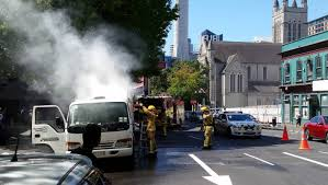 100 Truck Central Rubbish Truck Catches Fire In Central Auckland Stuffconz