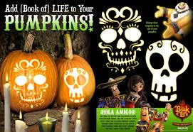 Sugar Skull Pumpkin Carving Patterns by Book Of Life Day Of The Dead Halloween Activities Bookoflife