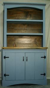 Primitive Farmhouse Hutch Bookcase