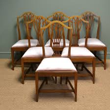 Elegant Mellow Mahogany Edwardian Hepplewhite Design Antique Dining Chairs 4 Hepplewhite Style Mahogany Yellow Floral Upholstered Ding Chairs Style Ding Table And Chairs Pair George Iii Mahogany Armchairs Antique Set Of 8 English Georgian 12 19th Century Elegant Mellow Edwardian Design Antiques World 79 Off Wood Hogan Side Chair Eight Late 18th Of
