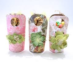 How To Make Mini Easter Baskets From Toilet Paper Rolls