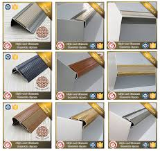 Wood Stair Nosing For Tile stair edge protection wooden grain vinyl floor aluminum stair