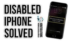 iPhone disabled How to unlock Reset Restore iPhone 5 6 6s 7 Plus