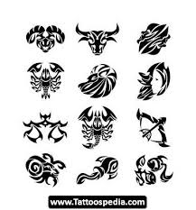 Tribal Simple Zodiac Taurus Tattoo For Arm In 2017 Real Photo