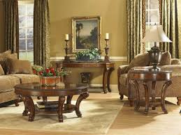 Sophisticated Old World Dining Table In A R T Furniture 46 X 76 Rectangular Double Pedestal