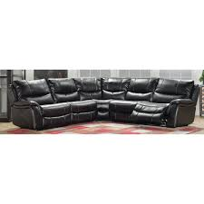 Reclining sectional & leather reclining sectional
