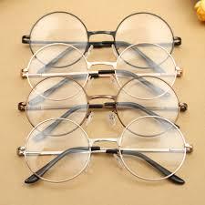 Fashion Vintage Retro Round Circle Metal Frame Eyeglasses Clear Lens