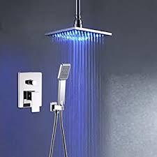luxurious shower an der wand montierte badezimmer led farbe