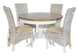 Trebetherick Round Dining Table & 4 Atlantic Chairs - Special Order