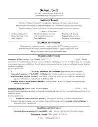Sample Resume Internship Banking Examples For An Investment Banker Samples