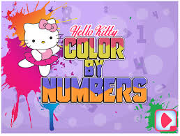 Color By Number Hello Kitty Coloring Pages