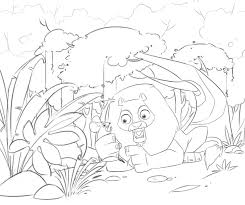 The Lion And Mouse Home Activity Space Coloring Pages