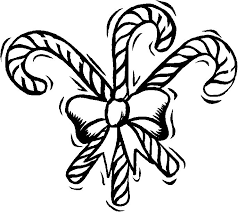Printable Christmas Coloring Page Three Candy Canes With A Bow