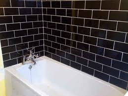 brick with black grout white tiles interior designs