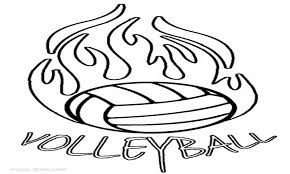 Volleyball Coloring Pages Net Trend Picture