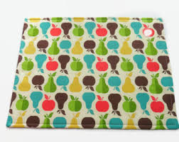 Apple Pear Placemats Fruit Placemat Optional Matching Napkins Table Runner