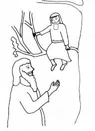 Jesus Zacchaeus Coloring Page