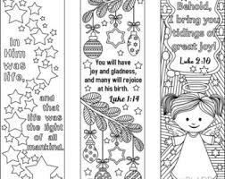 9 Printable Christmas Coloring Bookmarks 6 Designs With Bible Verses And 3 Without Texts