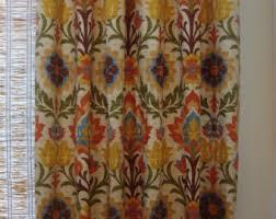 Waverly Fabric Curtain Panels by Waverly Santa Maria Etsy
