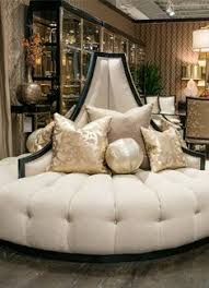 Marge Carson Sofa Sectional by Extraordinary Ivory Tufted Round Sofa Chair Custom Made 7