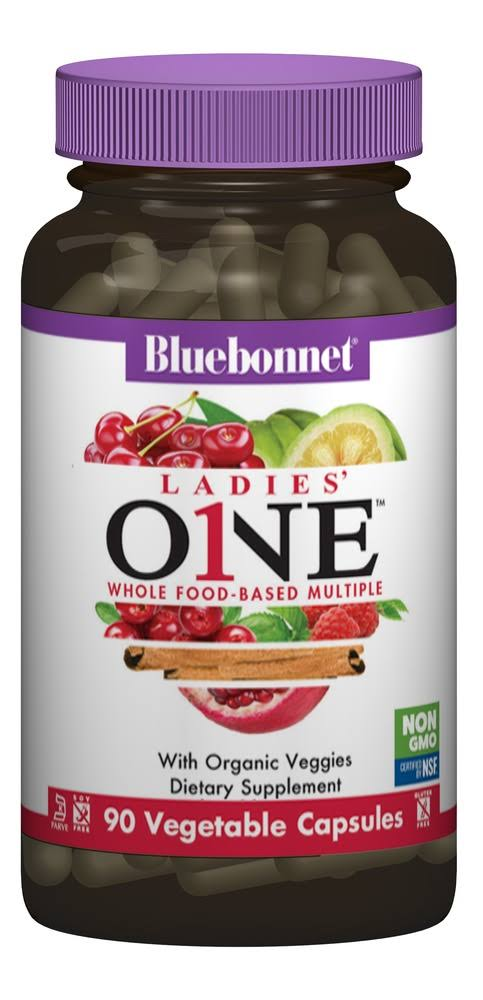 Bluebonnet Ladies One Whole Food-Based Multiple, 90 Veg Capsules