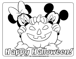 Beautiful Mickey Mouse Halloween Coloring Pages With Free To Print And