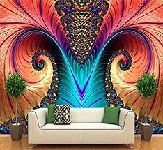 wandtapete 3d kunst abstraktes muster farbe schnitzen