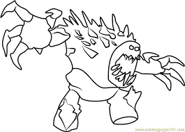 Angry Marshmallow Coloring Page
