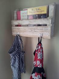 Shabby Distressed Pallet Shelf Magazine Rack Cookbook 35
