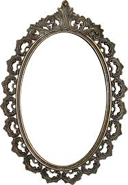 Golden Mirror Frame PNG Image With Transparent Background