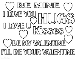 Be My Valentines Quote Coloring Pages