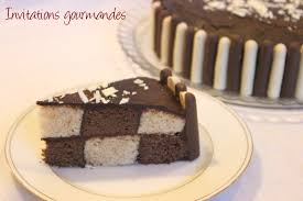 decoration patisserie en chocolat gâteau damier chocolat vanille invitations gourmandes