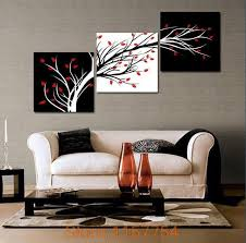 3 Panel Money Tree Modern Wall Art Black And White Decorative Painting Home Decor Print On Canvasblack