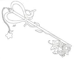 Key Coloring Pages Kingdom Hearts