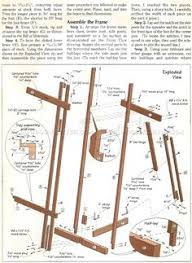 diy art easel woodworking plans and projects http