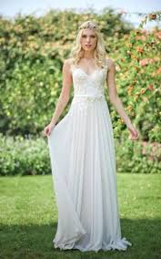 Luxury Casual Summer Wedding Dresses For Chiffon Lace Dress With Beading Flower Up Back 83